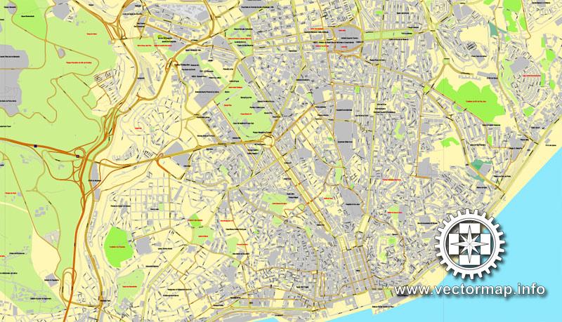Street map Lisbon PDF