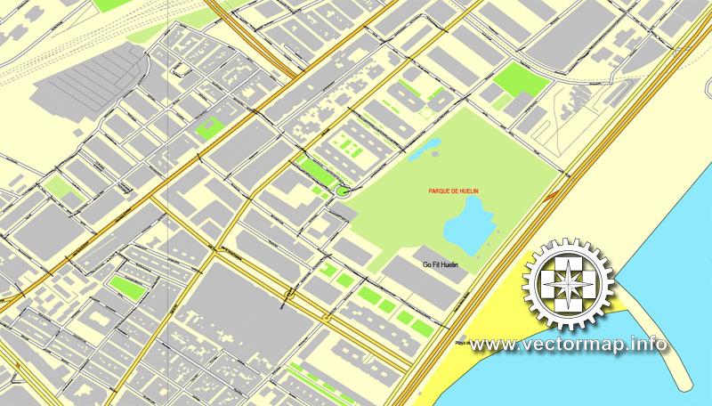 City map Valencia Spain ai