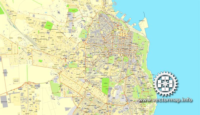Urban plan Odessa Ukraine