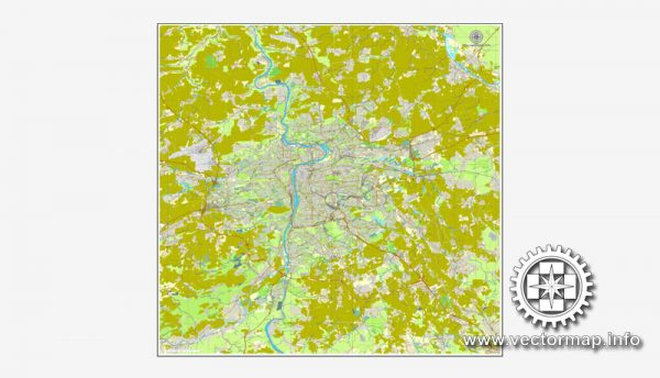 Map vector Prague, Czech Republic, printable vector street City Plan map, full editable, Adobe illustrator Map for design, print, arts, projects, presentations, for architects, designers and builders