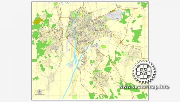 Map vector Sevilla, Spain, printable vector street City Plan map, full editable, Adobe illustrator, full vector Map for design, print, arts, projects, presentations, for architects, designers and builders