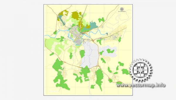Map vector Toledo, Spain, printable vector street City Plan map, full editable, Adobe illustrator Map for design, print, arts, projects, presentations, for architects, designers and builders