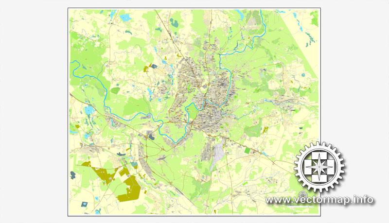 Pdf map Vilnius Lithuania PDF