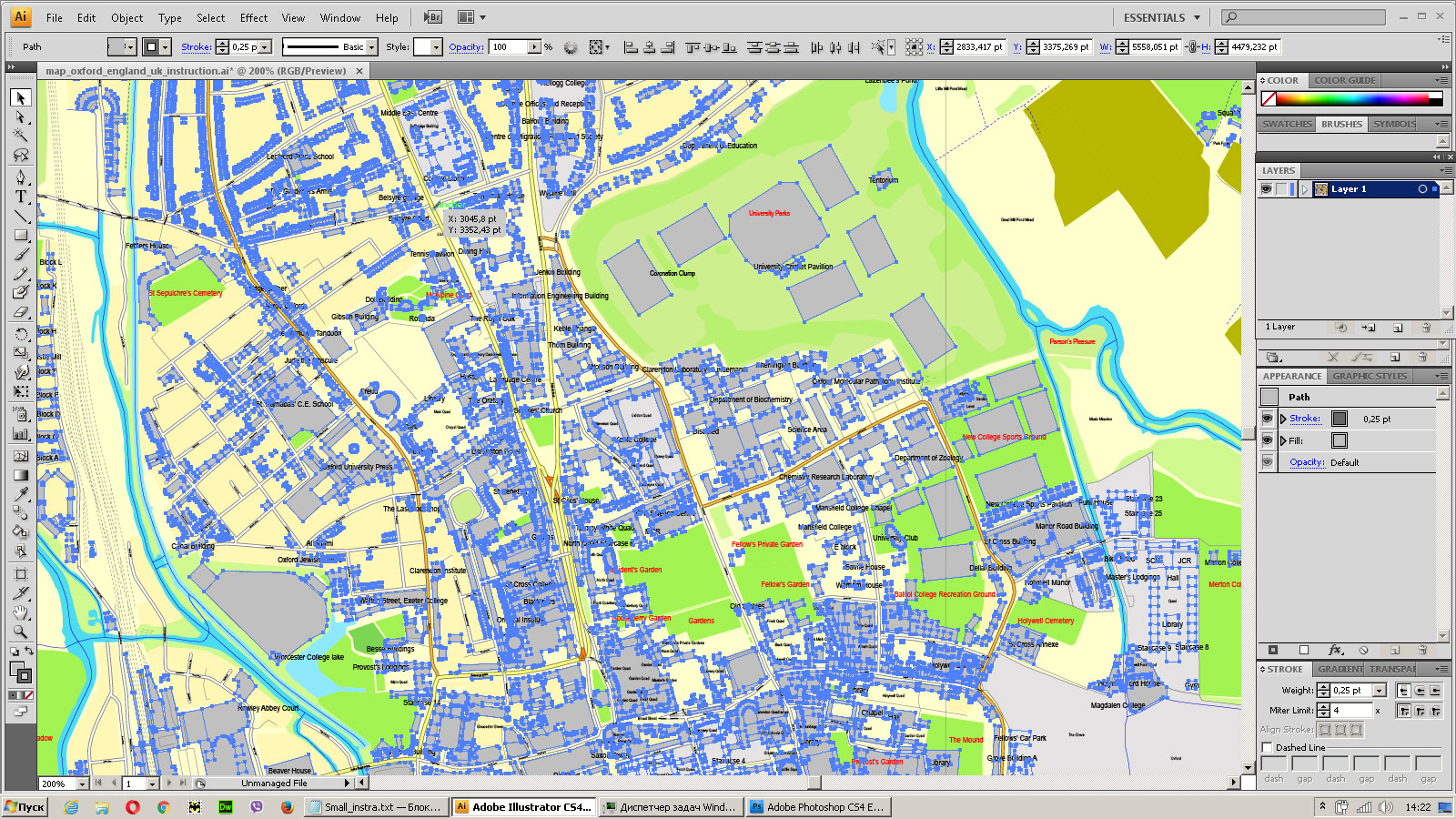 see the bulk selected objects on the vector map