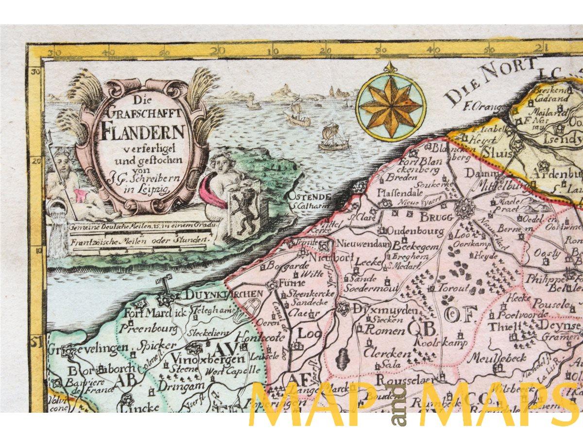 rare maps from SCHREIBER, Johann Georg