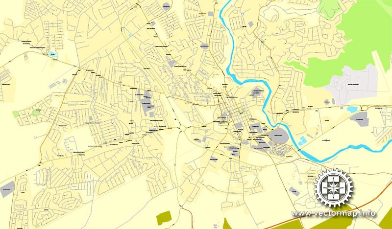 City map Jamaica full