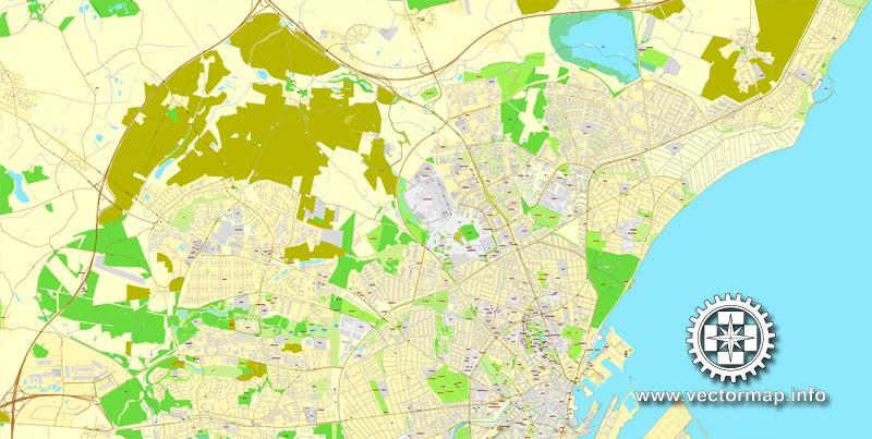 Street map Aarhus Denmark ai
