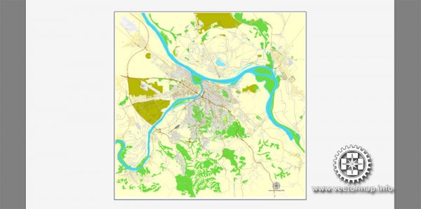 Vector map Belgrad, Serbia, printable vector street City Plan map, full editable, Adobe Illustrator, full vector, scalable, editable, text format street names, 9,0 mb ZIP