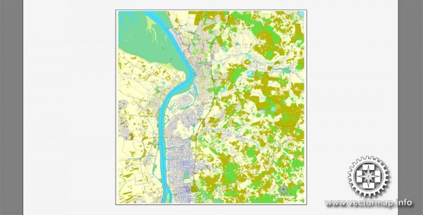 Vector map Bremerhaven, Germany, printable vector street City Plan map, full editable, Adobe Illustrator, full vector, scalable, editable, text format street names, 14,6 mb ZIP