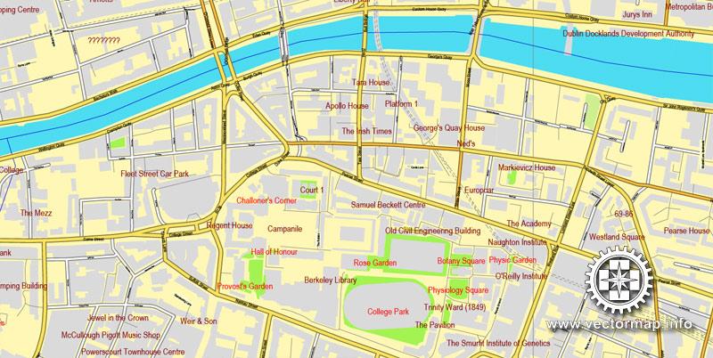 Urban plan Dublin Ireland ai