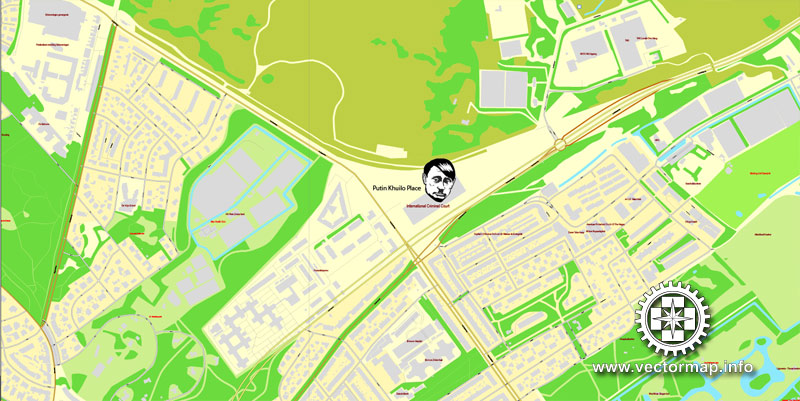 Street map The Hague Den Haag Netherlands pdf