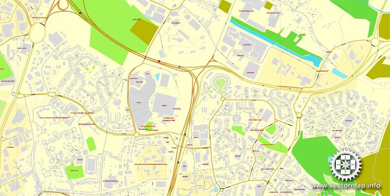 City map Lille France PDF