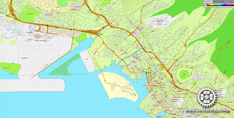 Pdf map Honolulu Oahu Hawaii pdf
