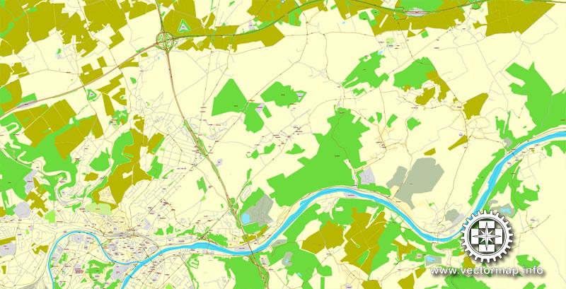 City map Namur Belgium PDF