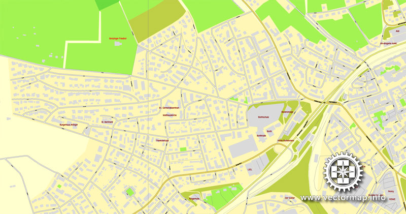 Urban plan Pforzheim Germany pdf