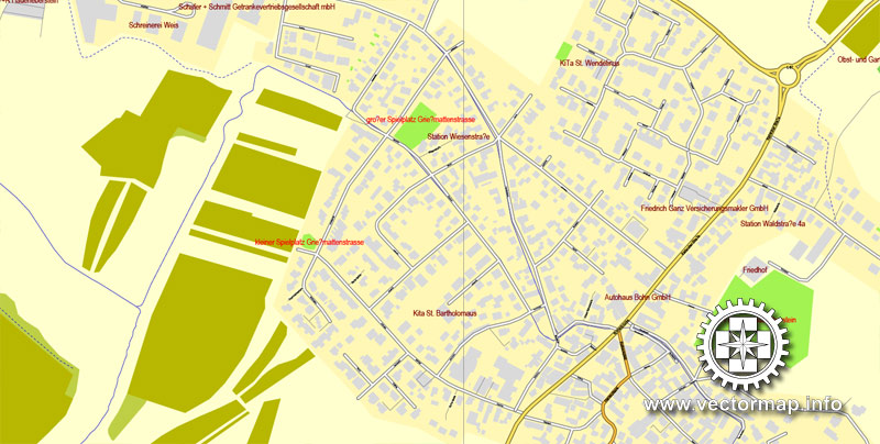 City map Rastatt Baden Baden Germany ai