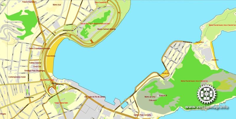 Pdf map Rio de Janeiro Brazil ai