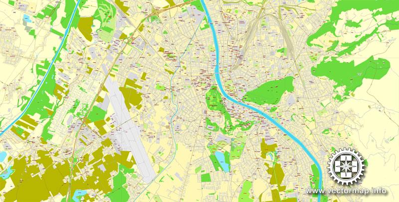 City map Salzburg Austria ai