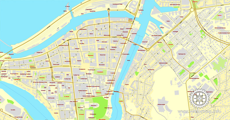 City map Trondheim Norway