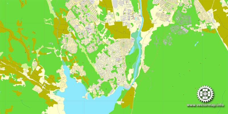 Vector Map Uppsala, Sweden, printable vector street map, City Plan full editable, Adobe Illustrator, Royalty free, full vector, scalable, editable, text format street names, 3,9 mb ZIP ALL streets, ALL Buildings.