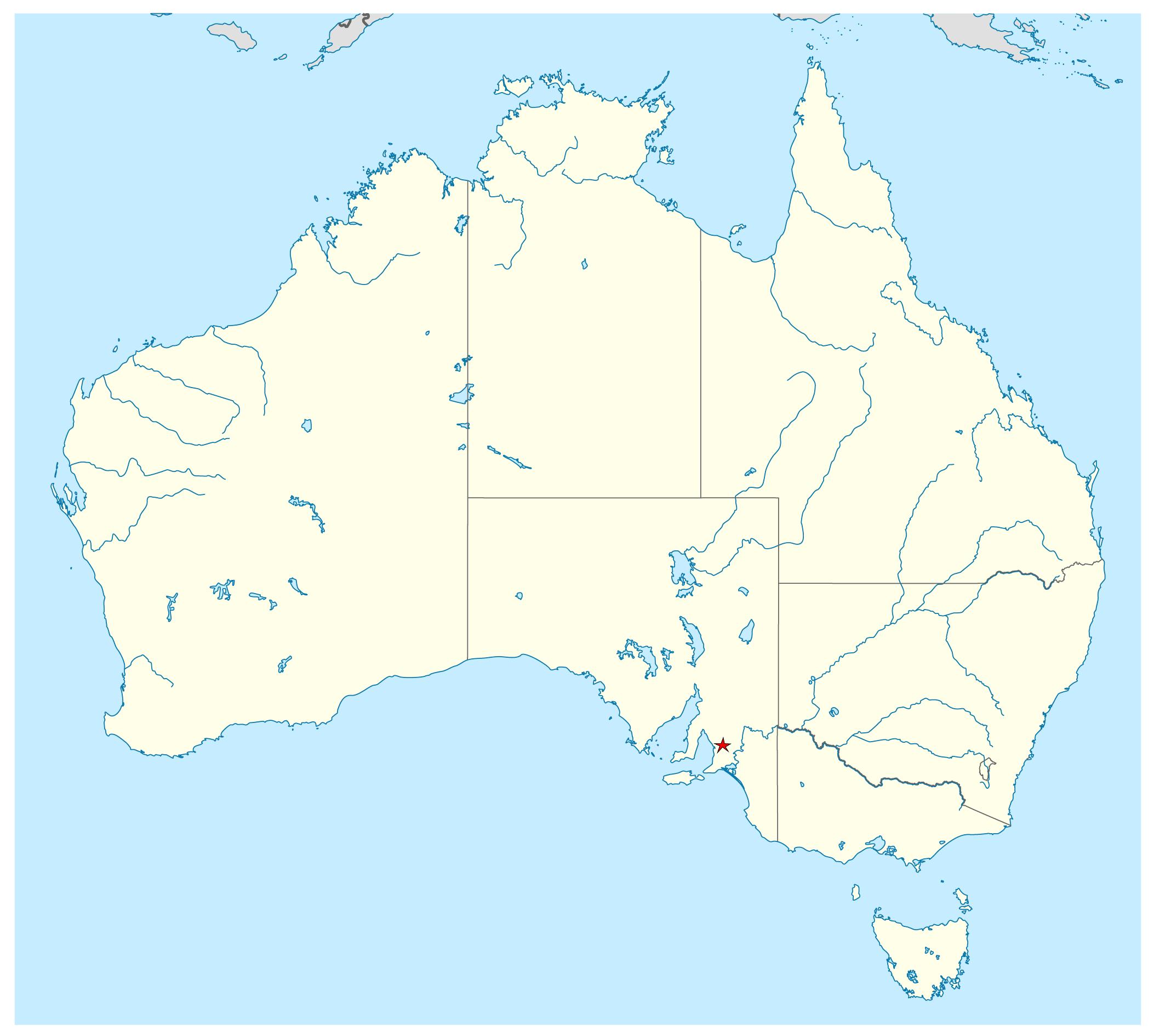 Free Vector Map Australia