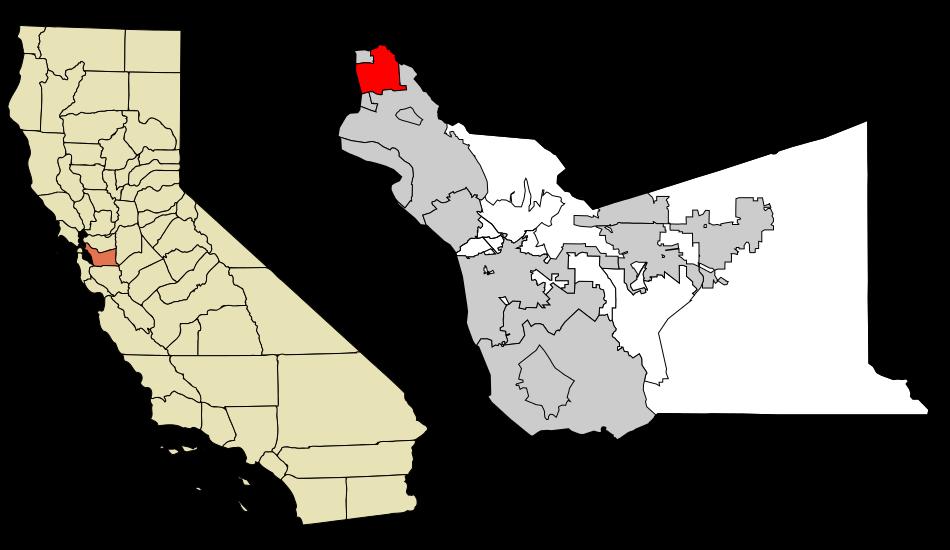Free Vector Map Berkeley
