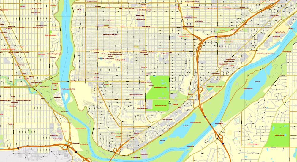 Street map Minneapolis StPaul Minnesota pdf