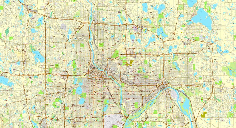 Street map Krasnodar PDF