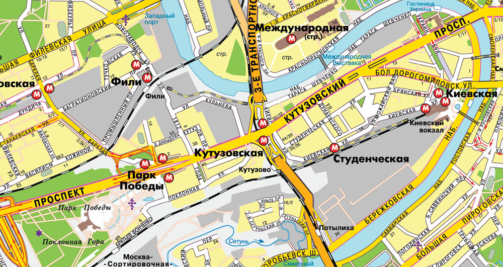 Street map Moscow PDF