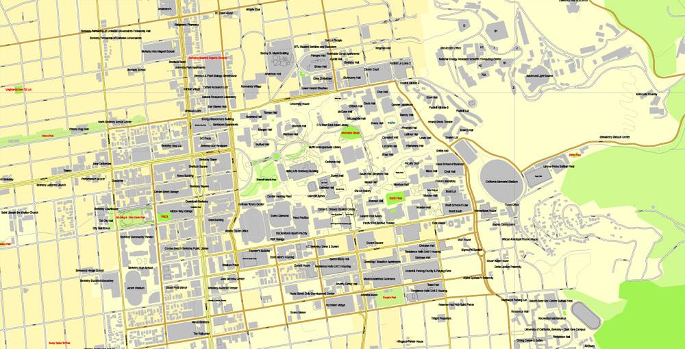 Pdf map Oakland Berkeley California pdf