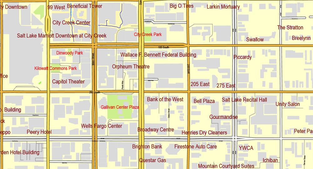 Pdf map Salt Lake City Metro PDF