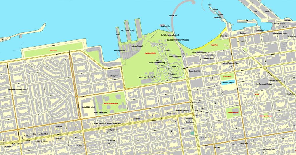 City map San Francisco Oakland PDF