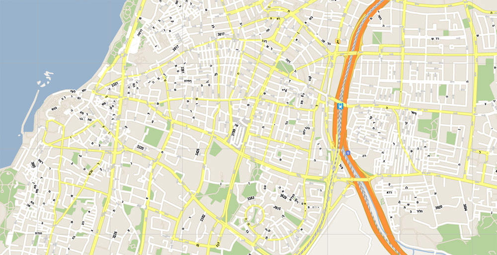 City map Israel PDF
