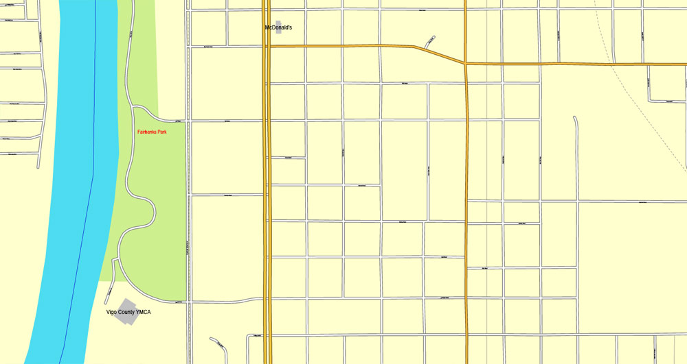 Street map Terre Haute Indiana