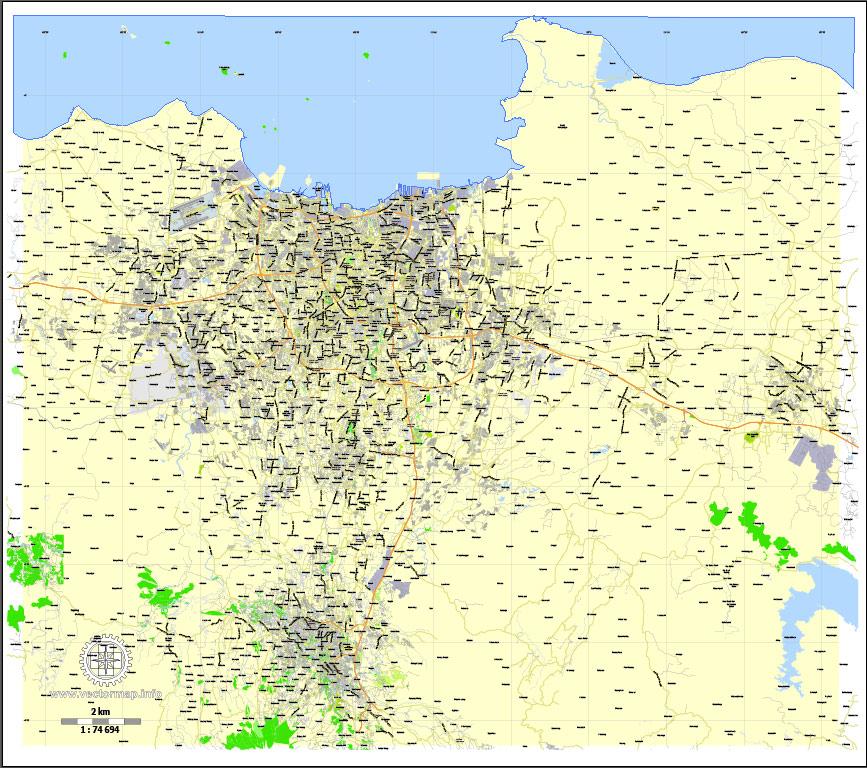 Street map Jakarta Indonesia 16 ai