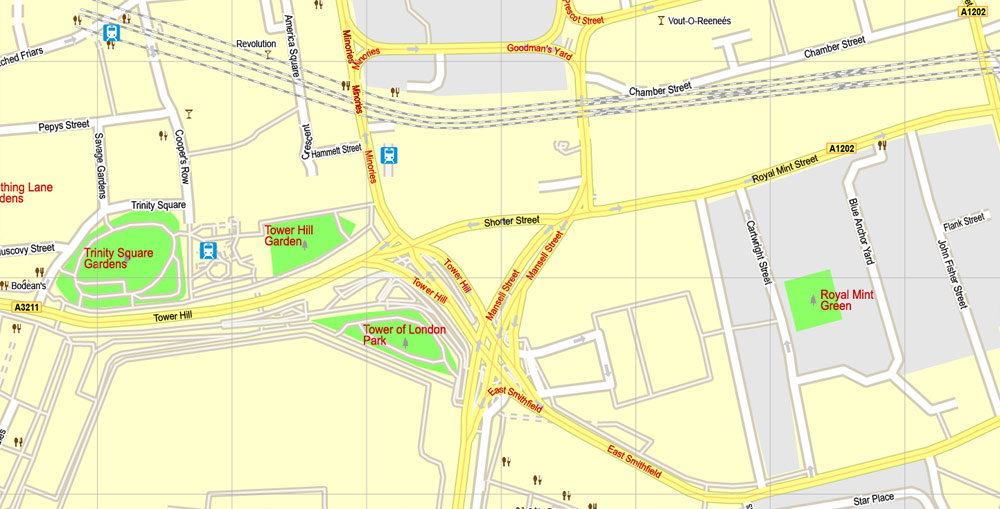 Street map London Center 17 AI