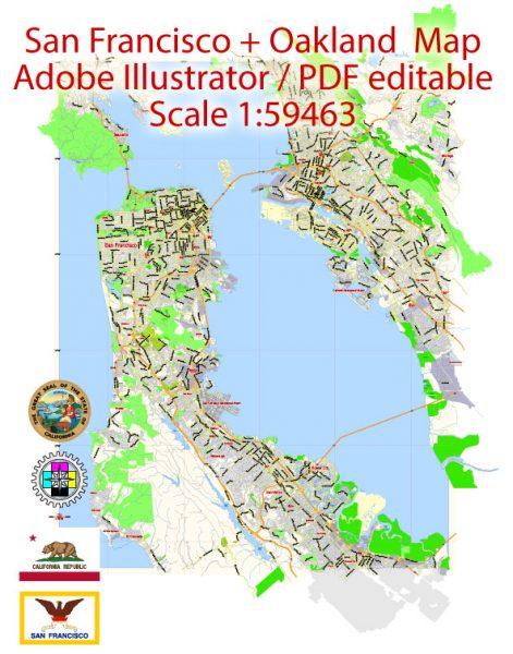 Map: San Francisco, California