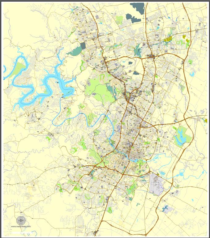 Pdf map Austin Texas pdf