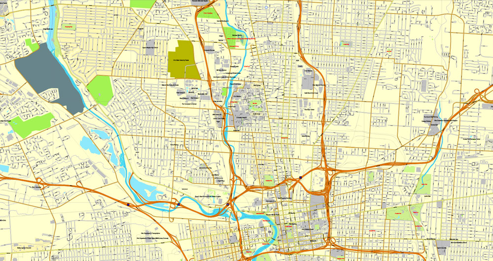 Street map Columbus Ohio pdf