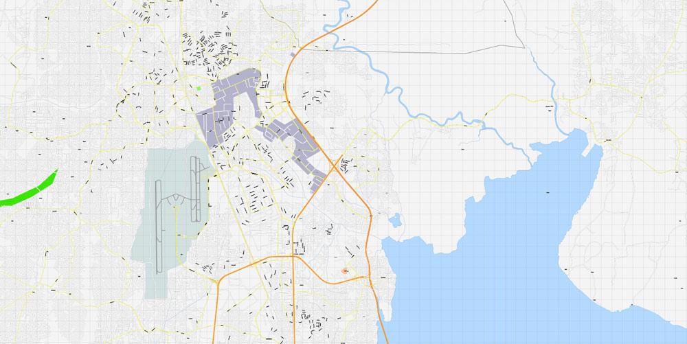 City map Lagos Nigeria 16
