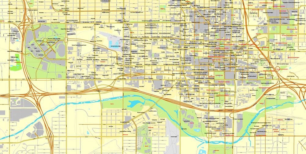 Street map Oklahoma City Oklahoma