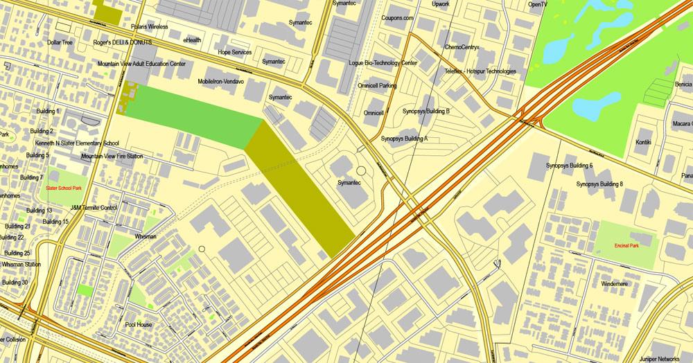 Urban plan Palo Alto Mountain View California pdf