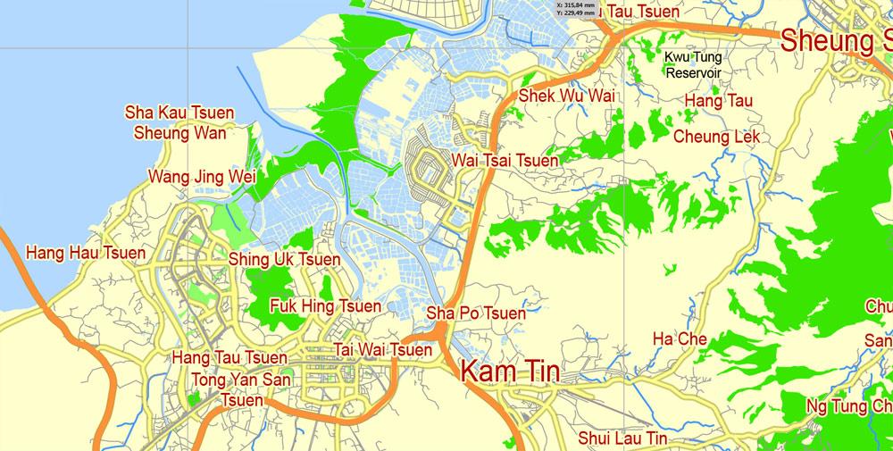 Street map Hong Kong PDF