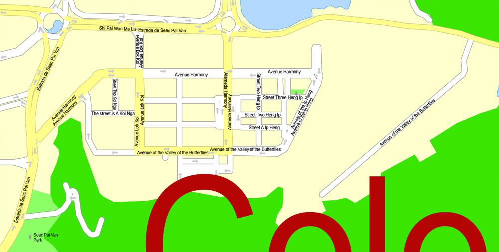 City map Macau China 17 AI ENG