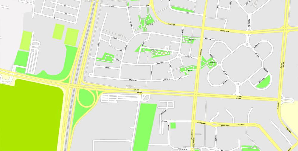 Street map  Tel Aviv Yafo Israel 12 AI