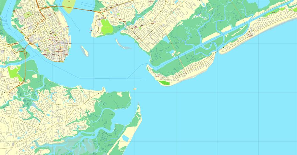 Street map Charleston South Carolina 3 10 CDR Center