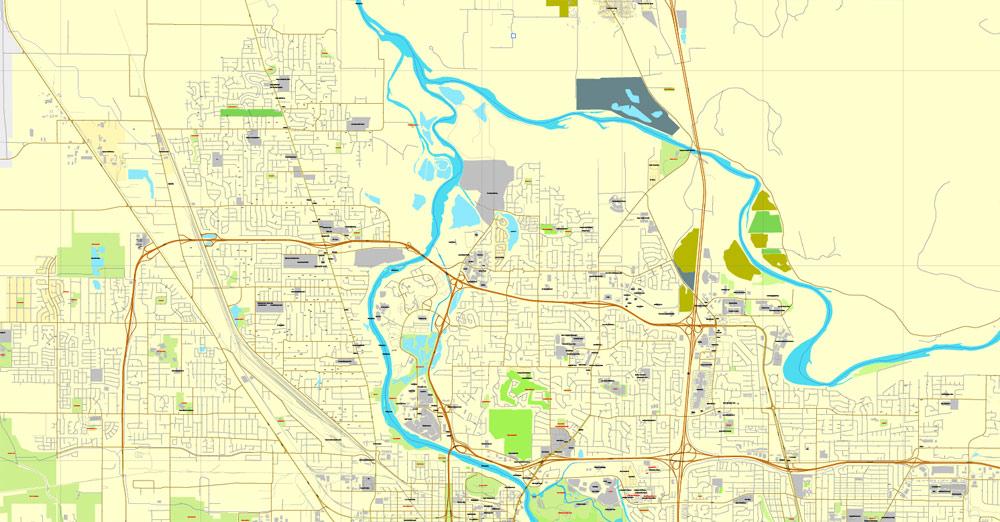 Street map Eugene Springfield Oregon PDF