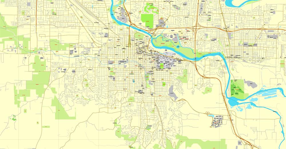 Street map Eugene Oregon
