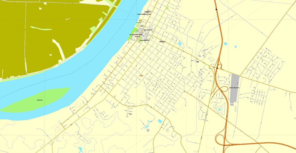 Street map Evansville Indiana 3 10