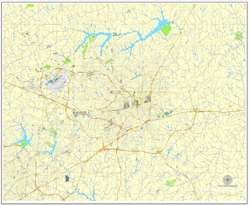 City map Greensboro North Carolina 3 10 PDF